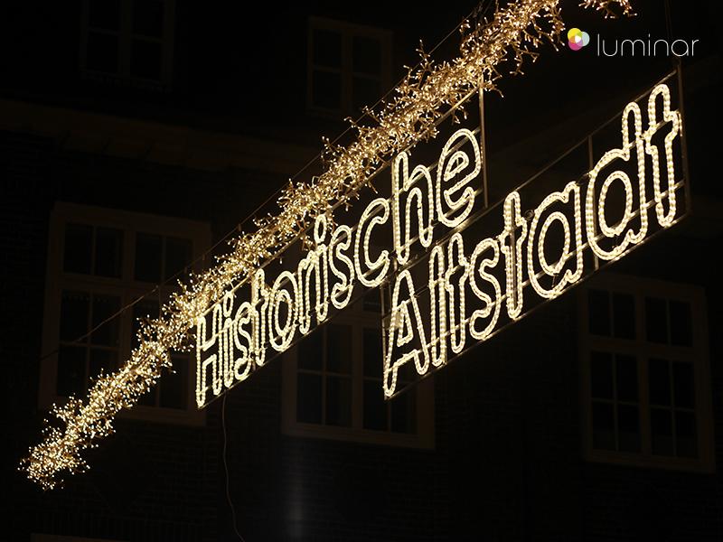 Weihnachtsbeleuchtung in Stade